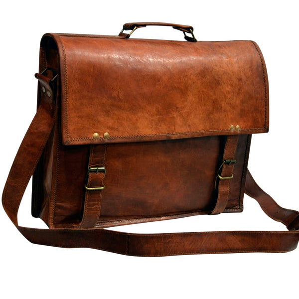leather laptop messenger bags