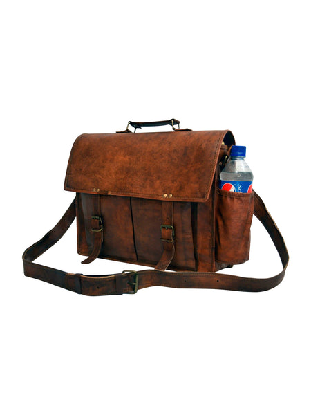real leather laptop bag