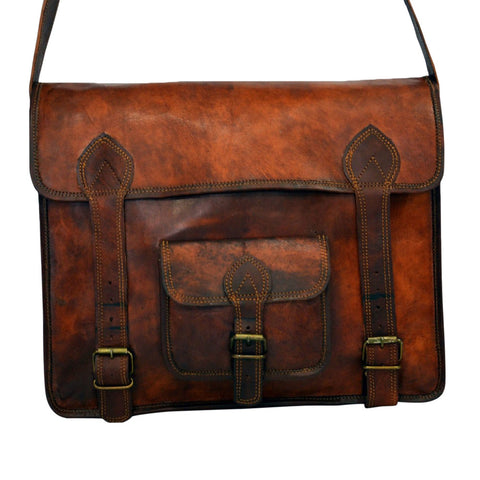 real  handmade  leather bag