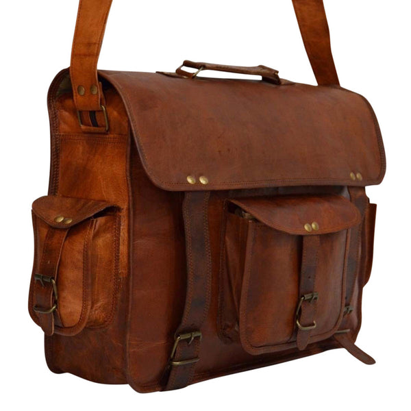 leather messenger bag satchel