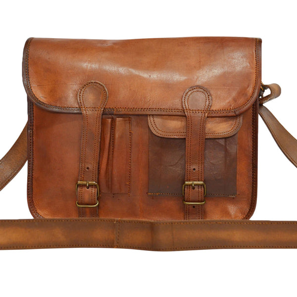 Vintage leather laptop messenger bag
