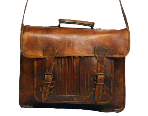 mens leather vintage bags