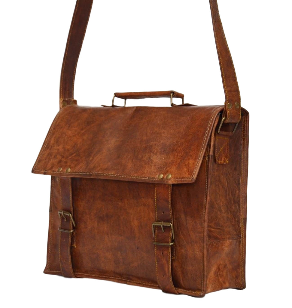 handmade vintage leather laptop bags