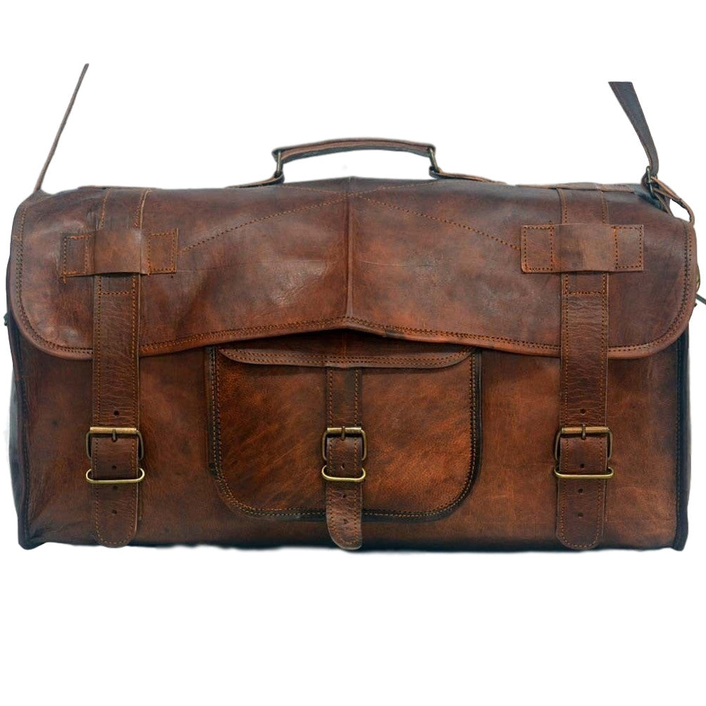 handmade vintage  leather travel  bags
