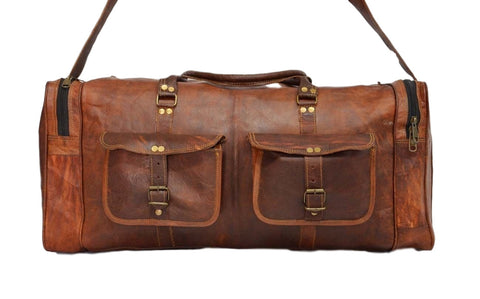 vintage leather travel bags for men and women