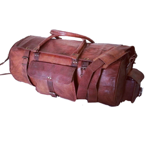 handmade  leather hand luggage