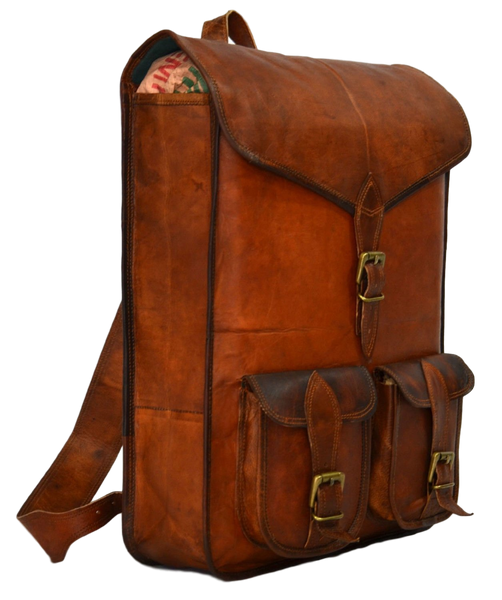 vintage leather rucksack backpack