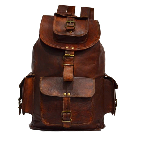 real leather rucksack