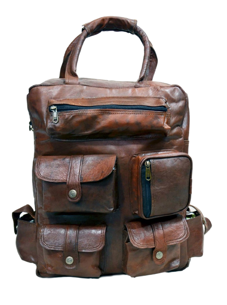 real  leather rucksack for men