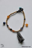 Single Strand Beaded Bracelet - Gray