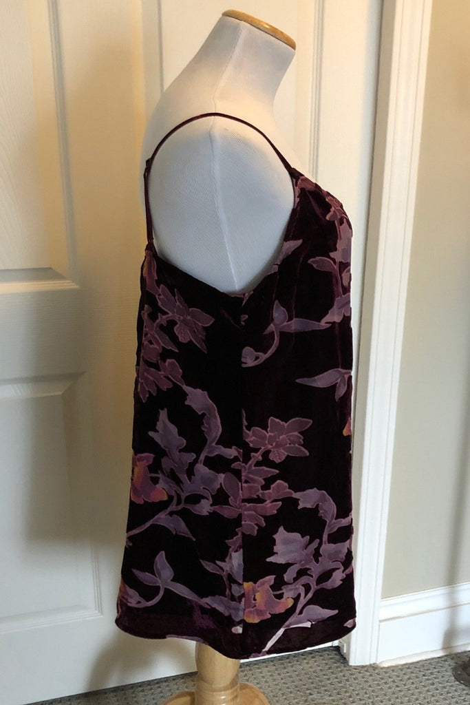 Blazin' Burnout Dress - Wine