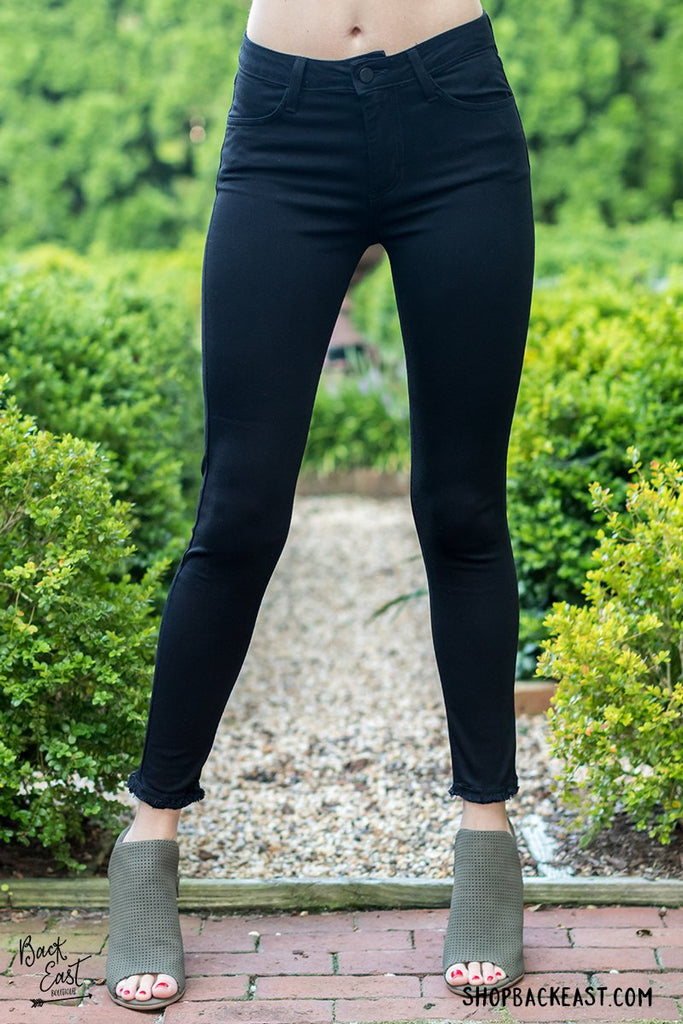 A Touch Of Fray Denim - Black Skinny Jeans