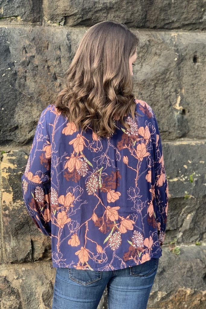 Open Floral Cardigan Top