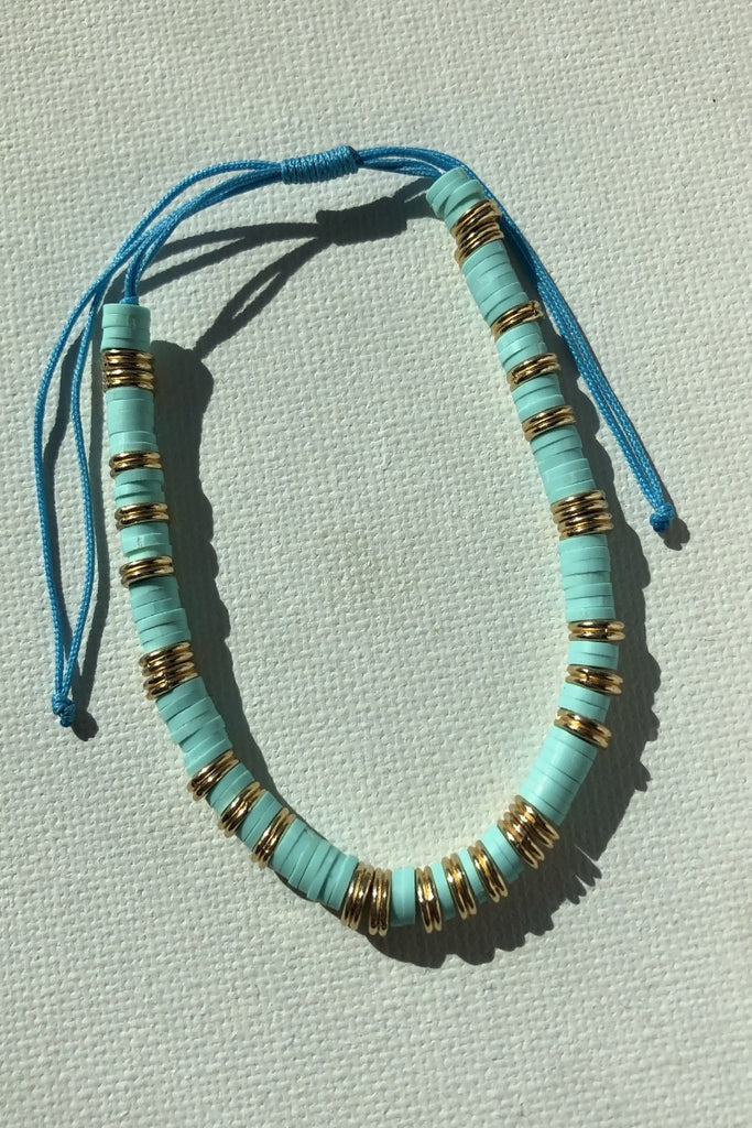 Gold with a Pop of Color Bracelet - Turquoise