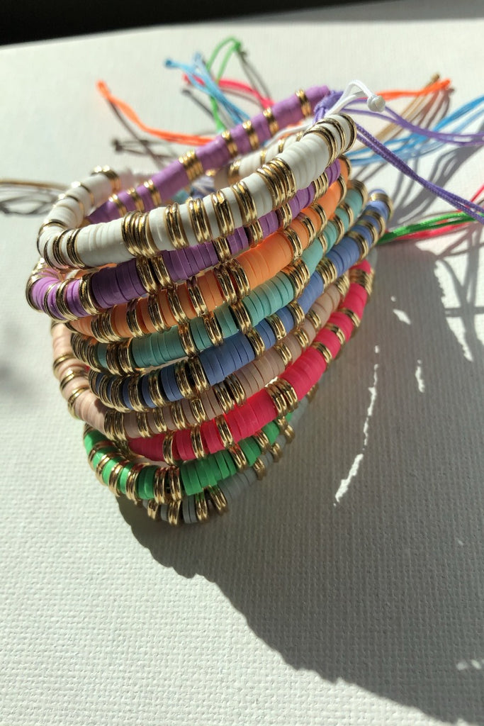 Gold with a Pop of Color Bracelet - Purple