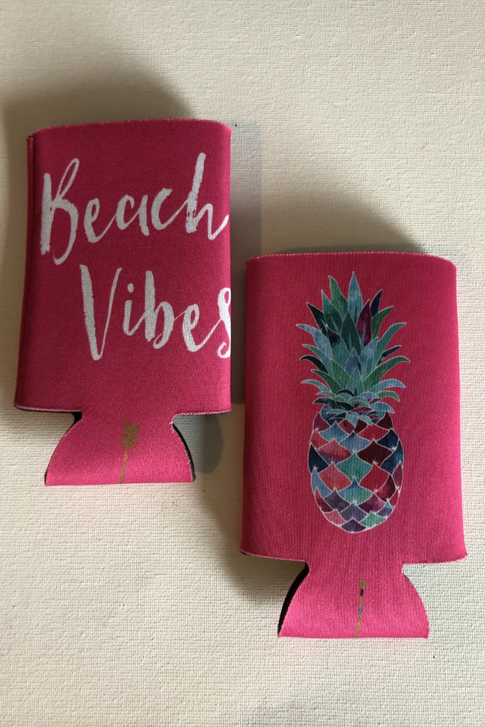 Beach Vibes Can Cozie - Pink