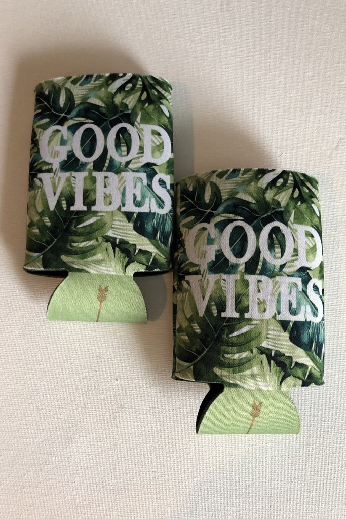 Good Vibes Can Cozie - Green