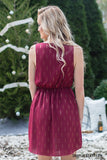 Garnet Dress with Gold Accents