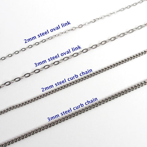 Stainless steel chain necklaces, choose your style/length