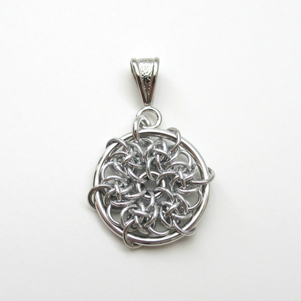 Spiderweb chainmaille pendant - Tattooed and Chained Chainmaille  - 4