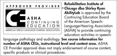 Logo for The American Speech-Language-Hearing Association (ASHA) Continuing Education Units (CEU) program