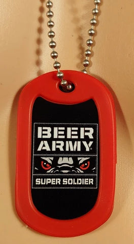 Beer Army Super Soldier Dog Tag