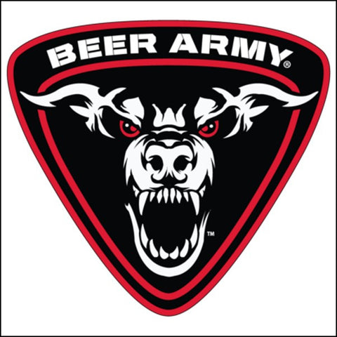 Beer Army Shield Logo Sticker 5-Pack