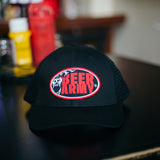 Beer Army Oval Patch Trucker Hat