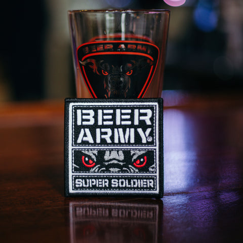 Beer Army Super Soldier Patch