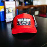 Beer Army Rectangle Patch Trucker Hat