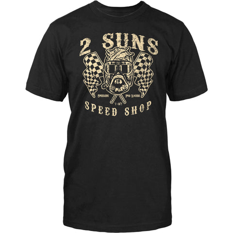 Old School Geeks Men's '2-Suns Speed Shop' Men's T Shirt
