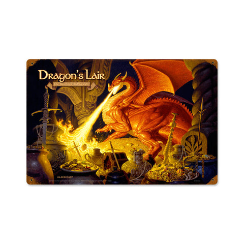 Lord of the Rings – Dragons Lair Metal Sign