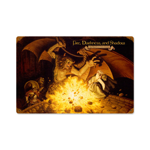 Lord of the Rings – Fire, Darkness, and Shadow Metal Sign