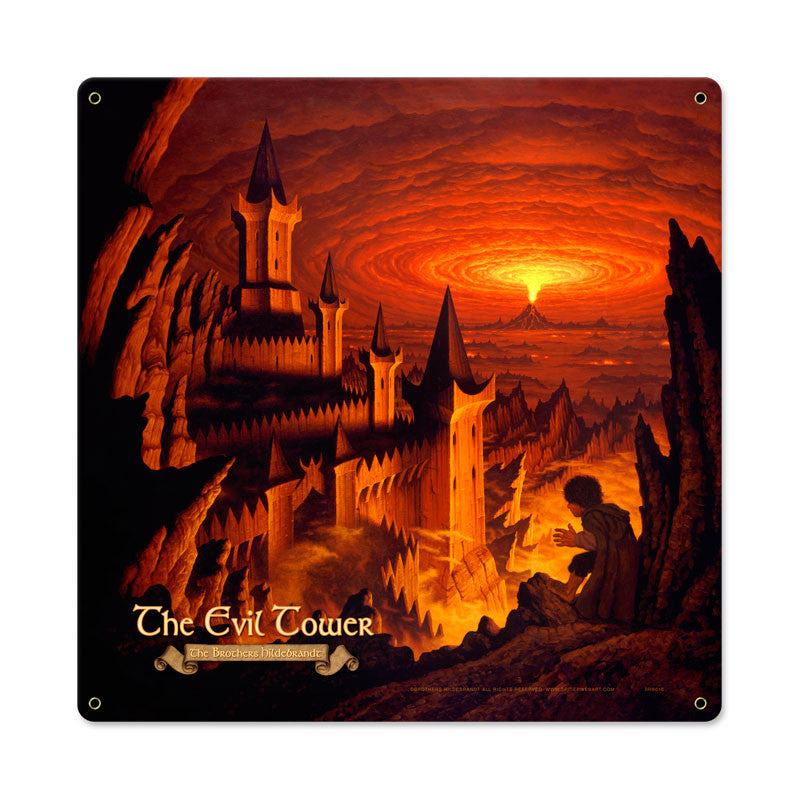 Lord of the Rings – The Evil Tower Metal Sign