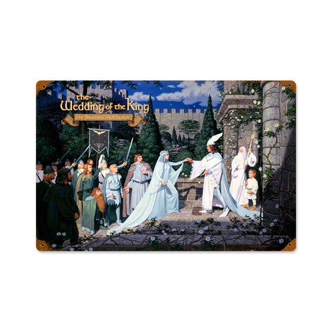 Lord of the Rings – The Wedding of the King Metal Sign
