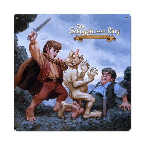 Lord of the Rings – The Struggle For the Ring Metal Sign