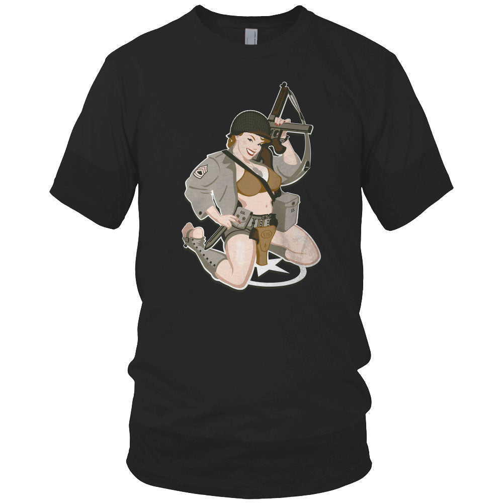 WWII Army Pin Up Girl Shirt