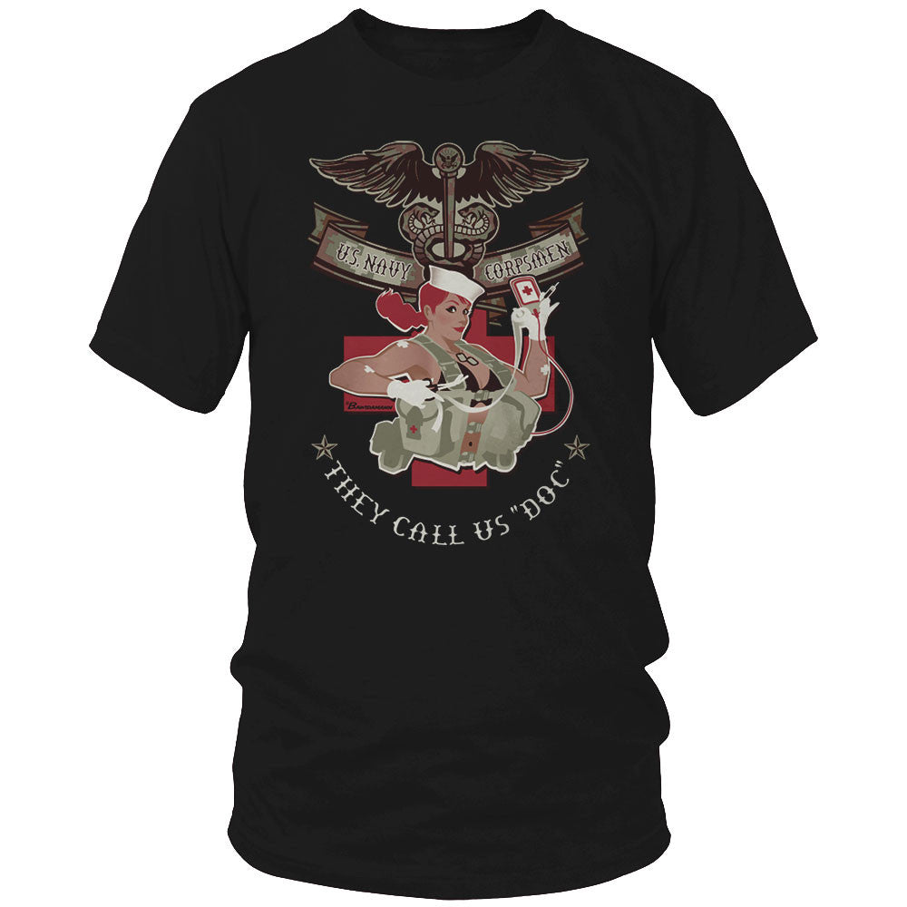 Corpsman Pin Up Girl Shirt