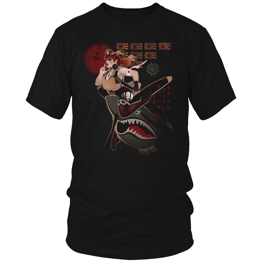Flying Tiger Pin Up Girl Shirt