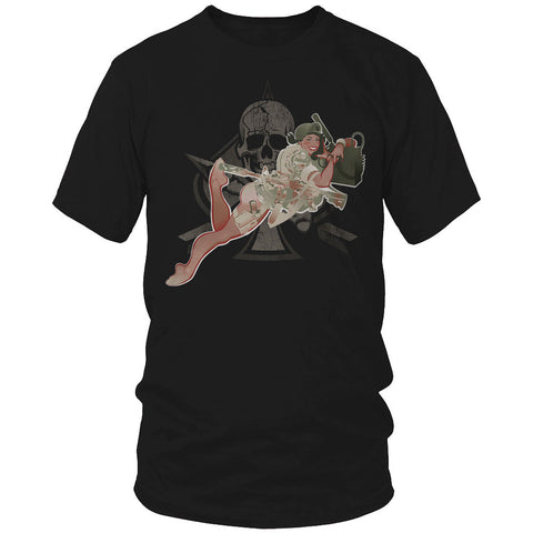 Green Beret Pin Up Girl Shirt