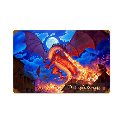 Lord of the Rings - Dragons Revenge Metal Sign