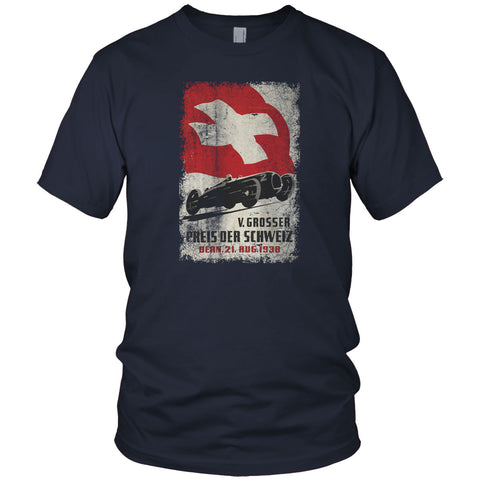 Swiss Car Race Vintage T Shirt