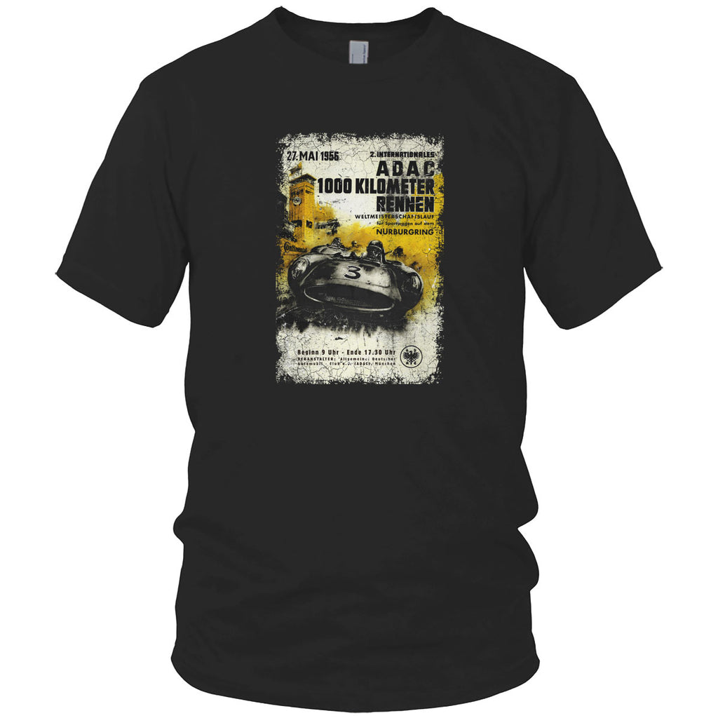Adac Car Race Vintage T Shirt Black