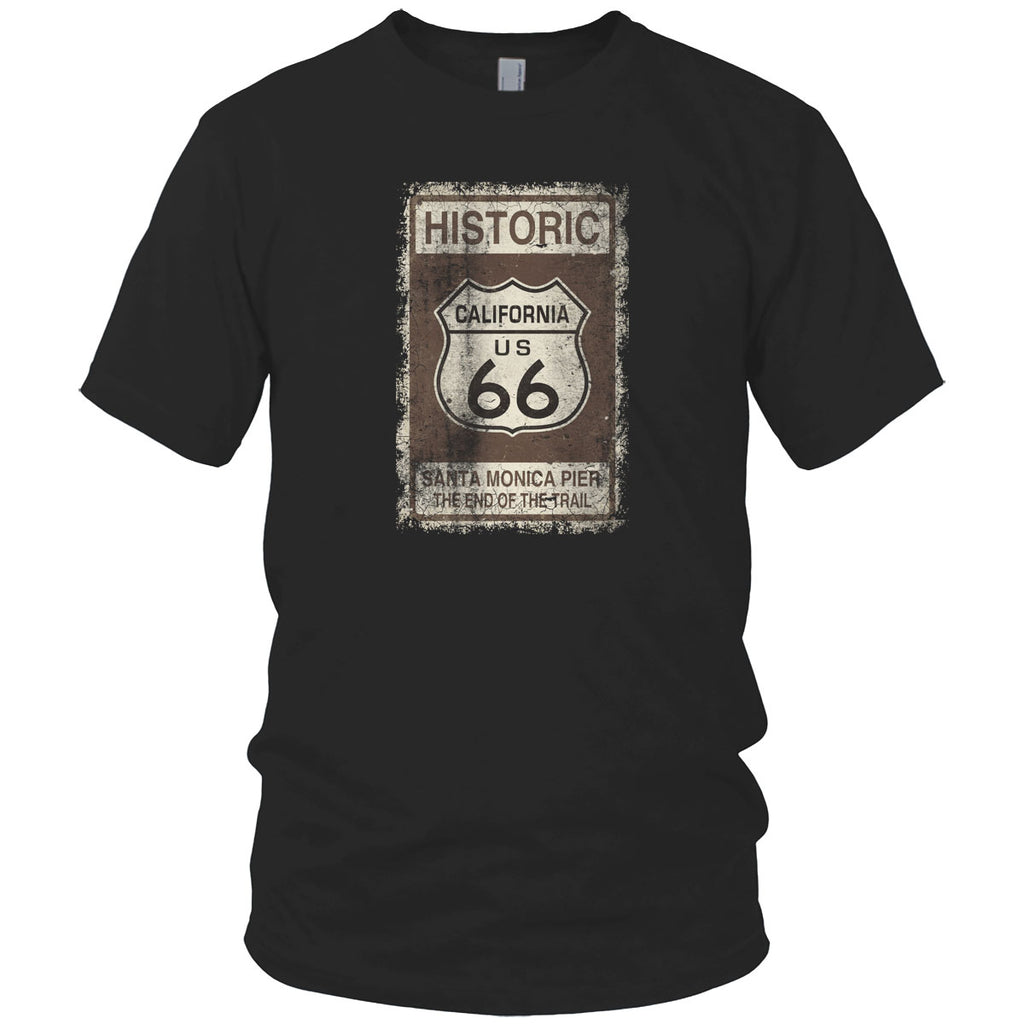 Route 66, End of the Trail Vintage T Shirt