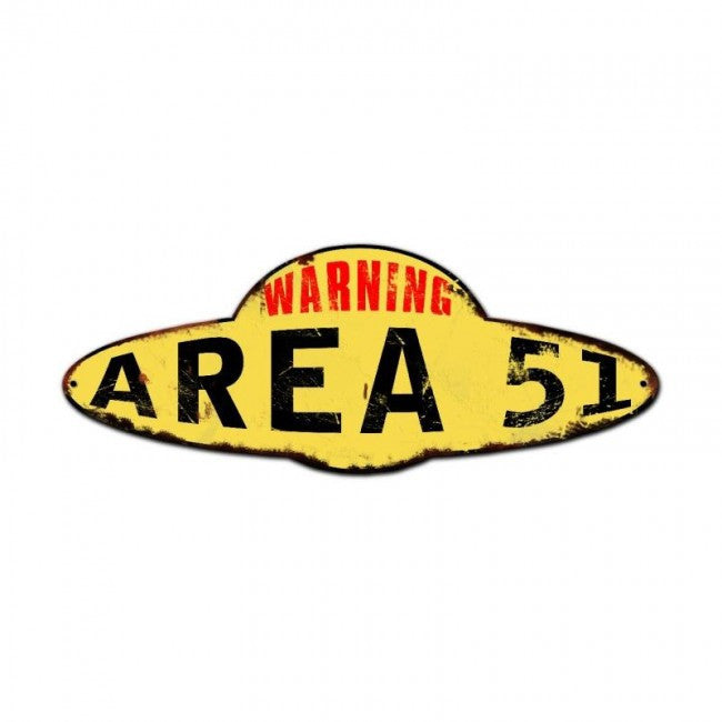 Area 51 Plasma Vintage Metal Sign