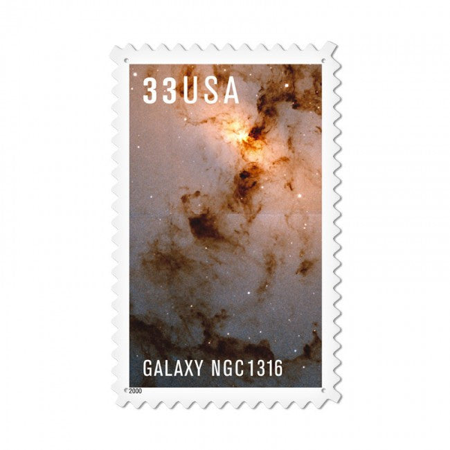 Galaxy Ngc1316 Vintage Metal Sign