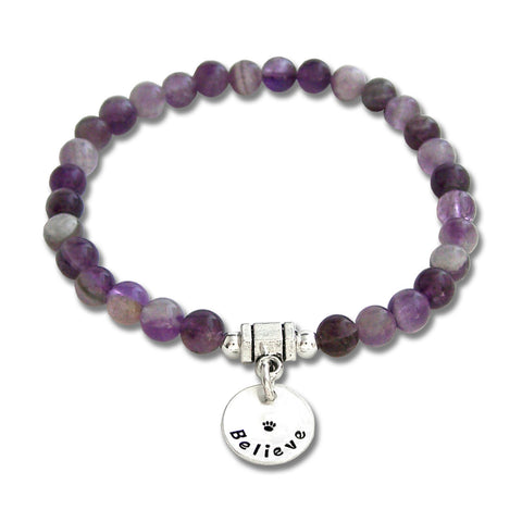 Amethyst Intention Bracelet - BELIEVE