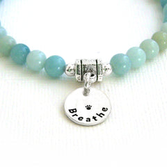 Amazonite Intention Bracelet - BREATHE