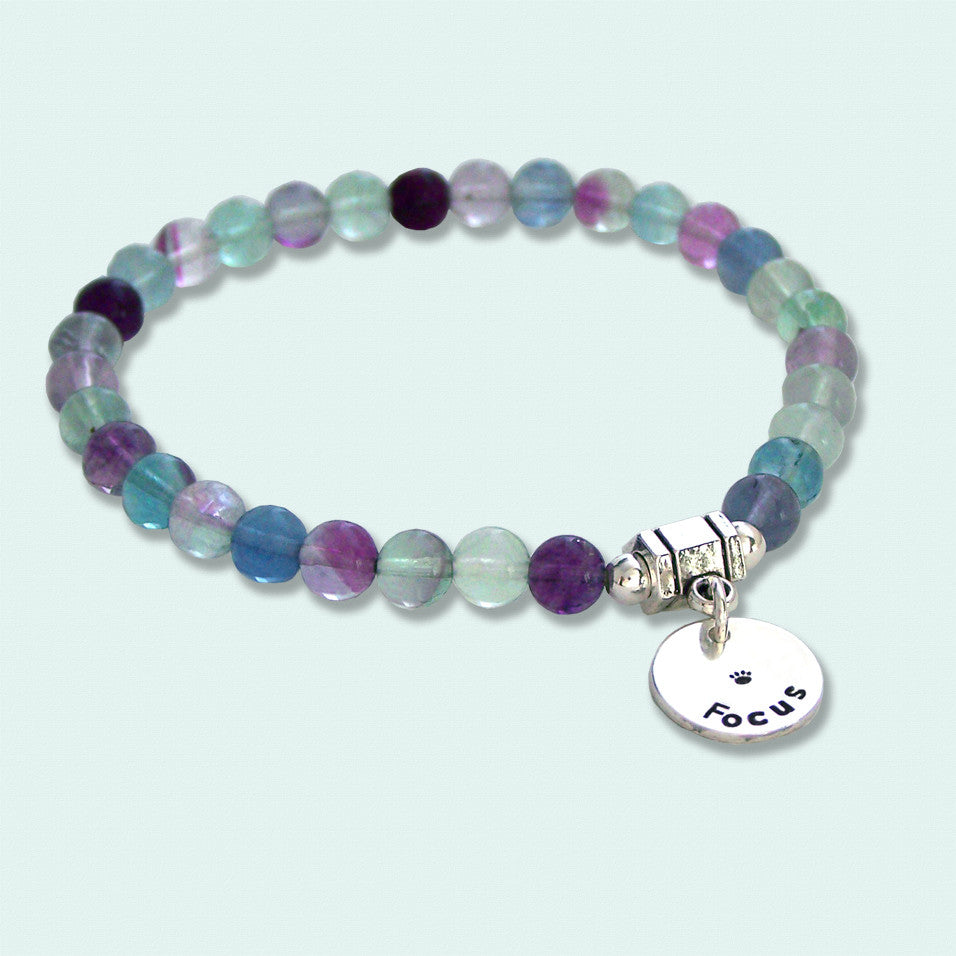 Fluorite Intention Bracelet - FOCUS