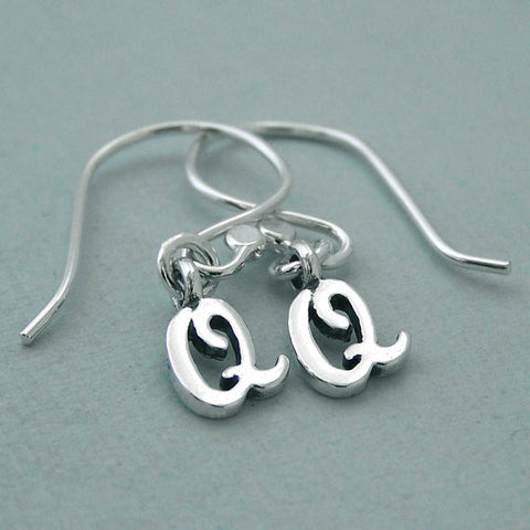 Double Q Sterling Silver Earrings